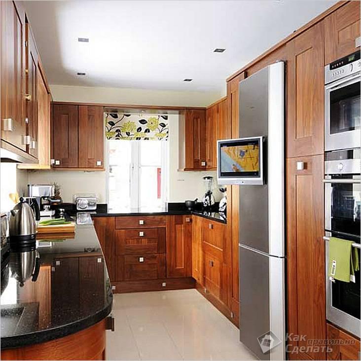 Удачный дизайн очень маленькой кухни