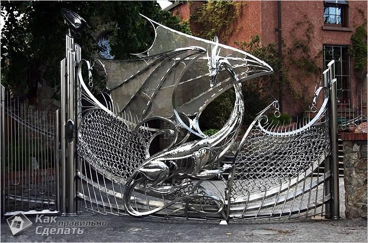 Неординарный кованый забор