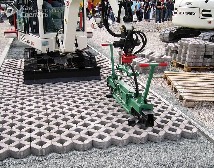 Установка бетонной решетки