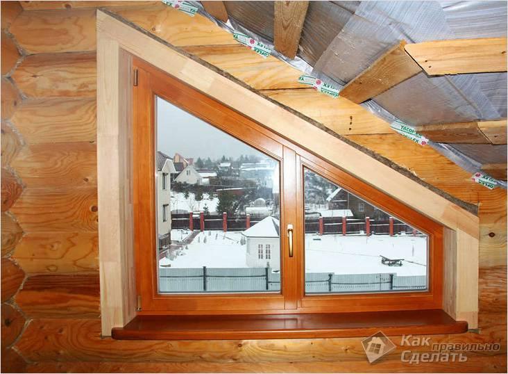 Окосячка окна нестандартной формы