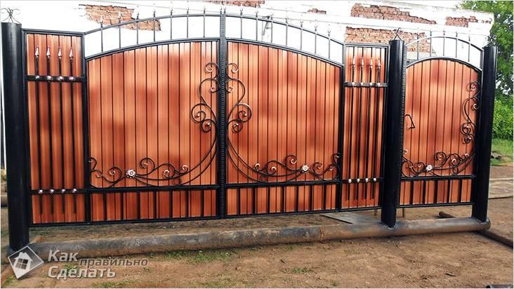 Ворота из красивого профлиста