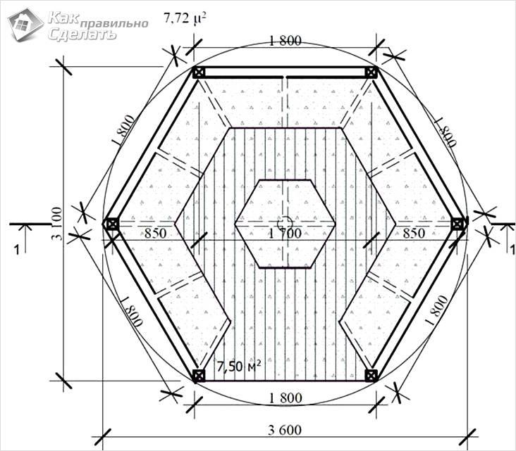 Схема конструкции — вид сверху