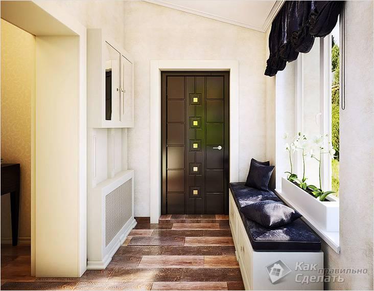 Оформление коридора в частном доме