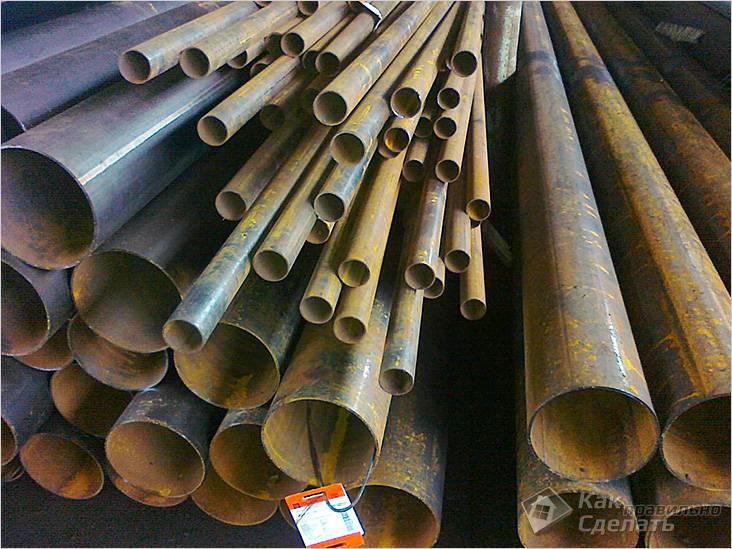 Прямошовная труба из стали