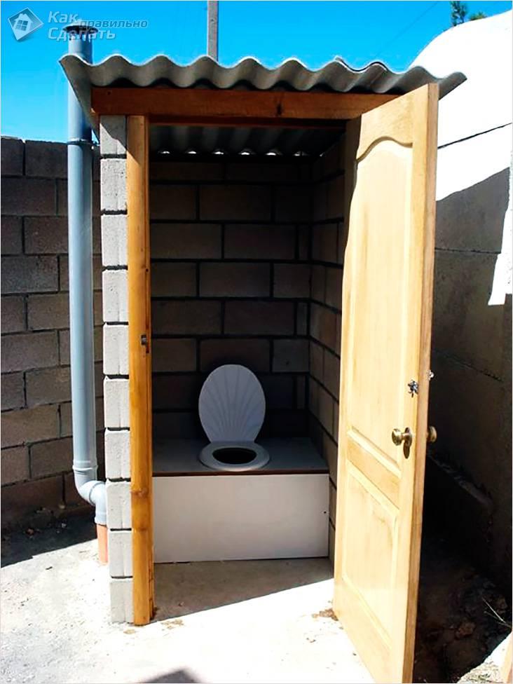 Туалет из блока