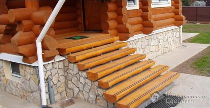 Пример возможной лестницы для беседки
