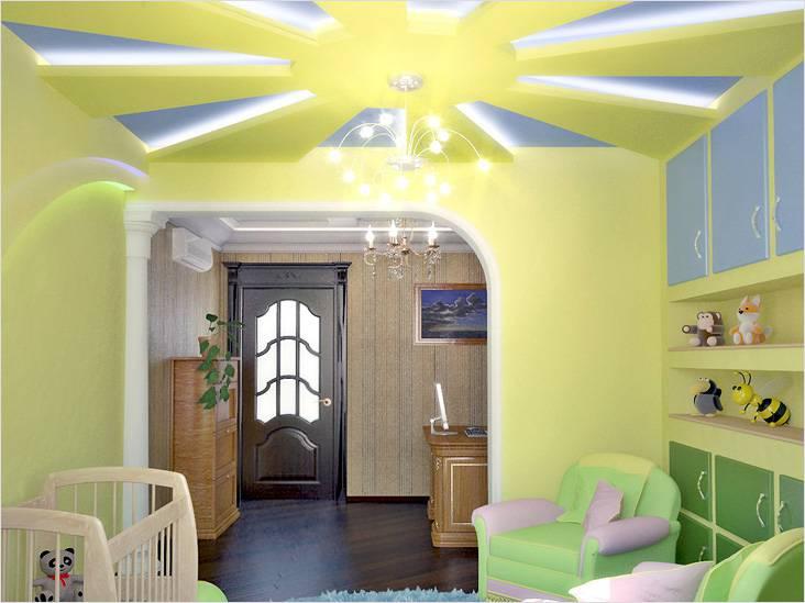 На потолке в детской может зажечься солнце...