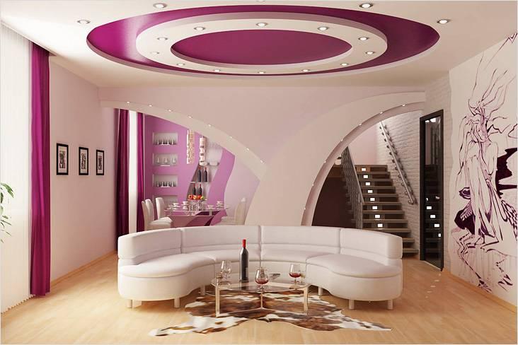 Гипсокартон — это оптимальный вариант для высоких потолков