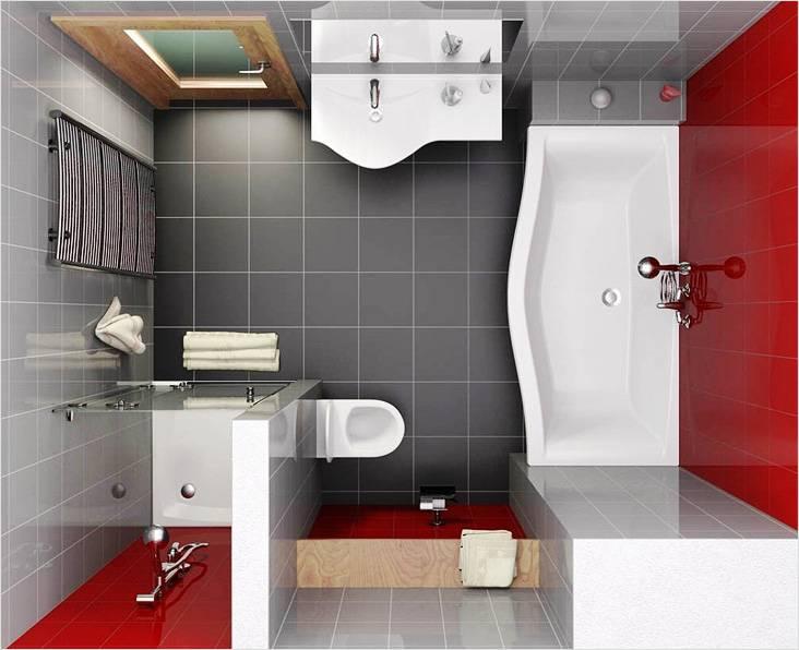 Санузел после объединения ванной комнаты и туалета