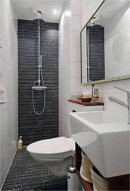 В этой супермаленькой ванной комнате душ встроенный