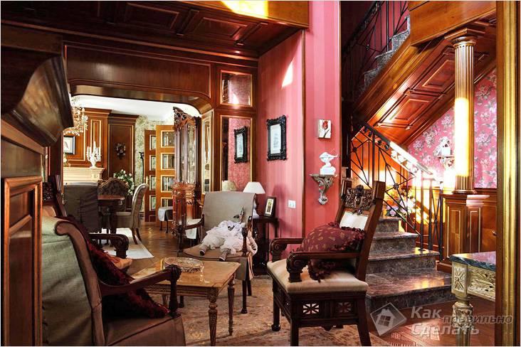 Обстановка дома в викторианском стиле