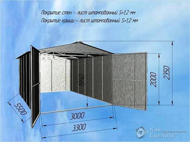 Проектные размеры конструкции