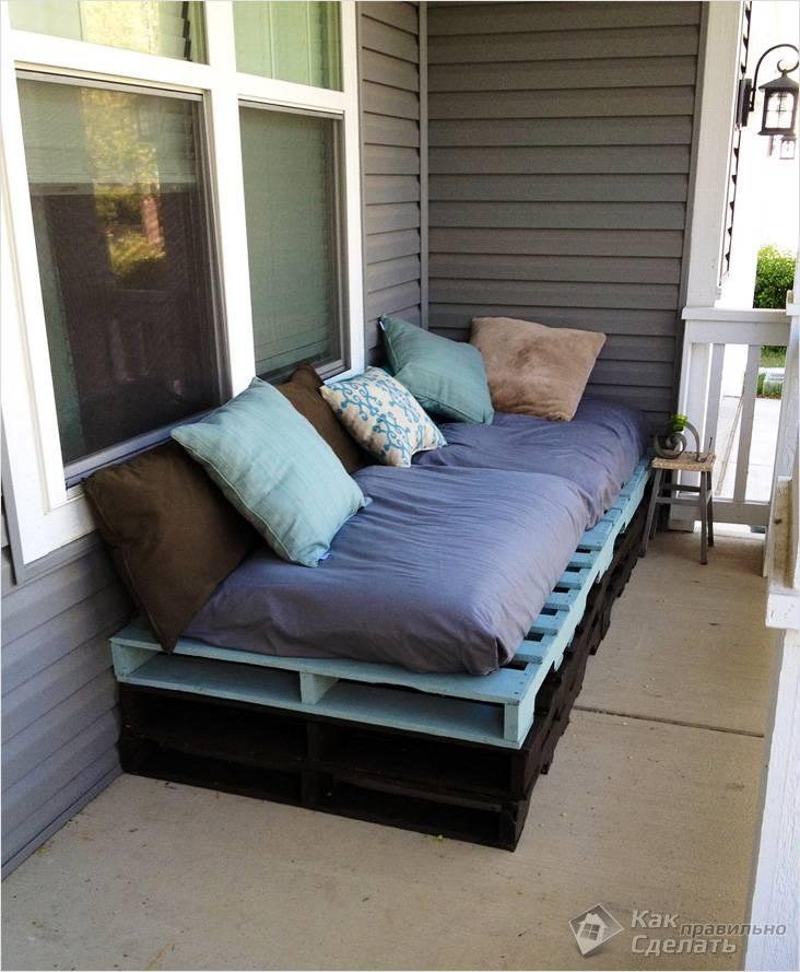 Удобный самодельный диван