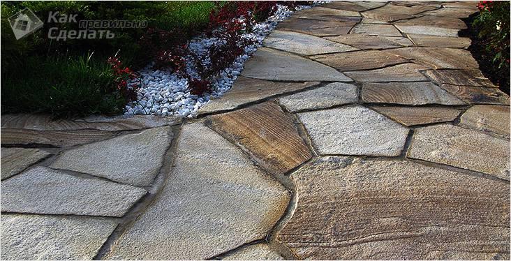 Классическая каменная дорожка
