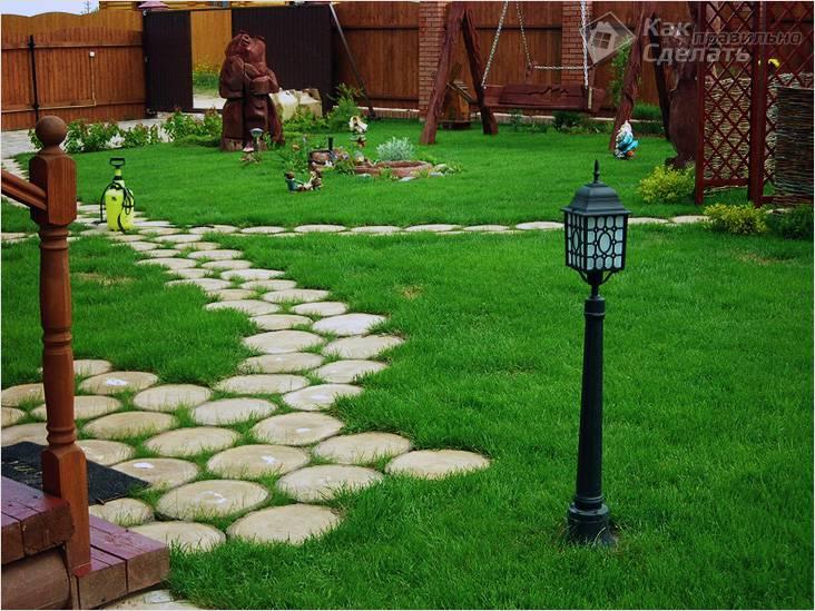 Оригинальная садовая дорожка
