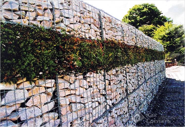 Стена из габионов