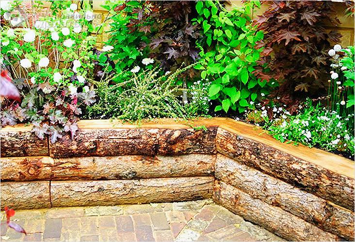 Подпорная стенка из дерева