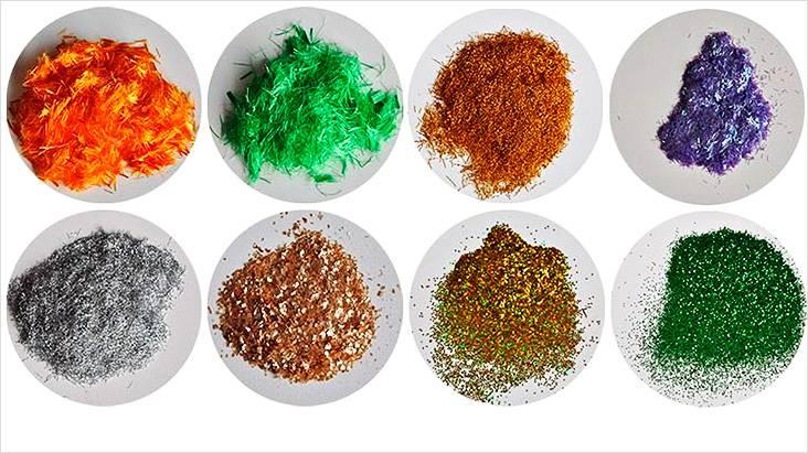 Добавки для самодельных обоев, они могут быть разных цветов и структуры