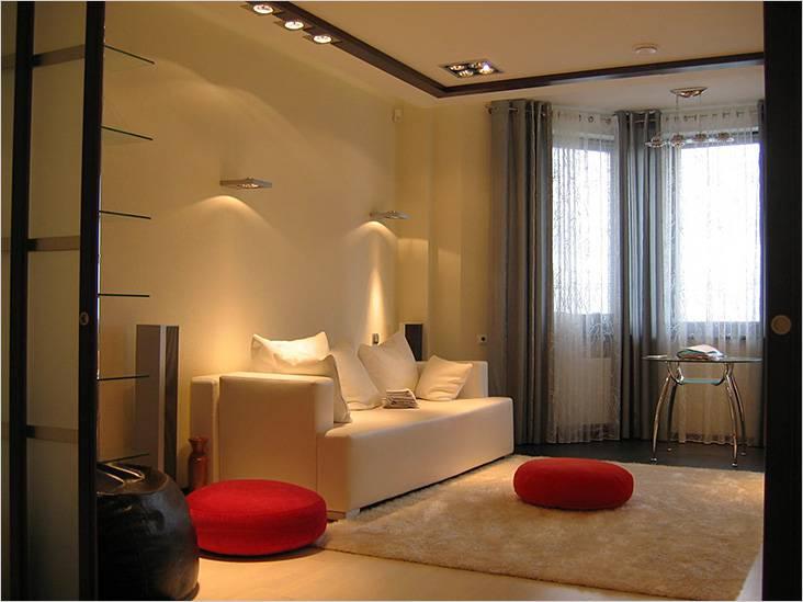 Интерьер маленькой гостиной 3×4 м
