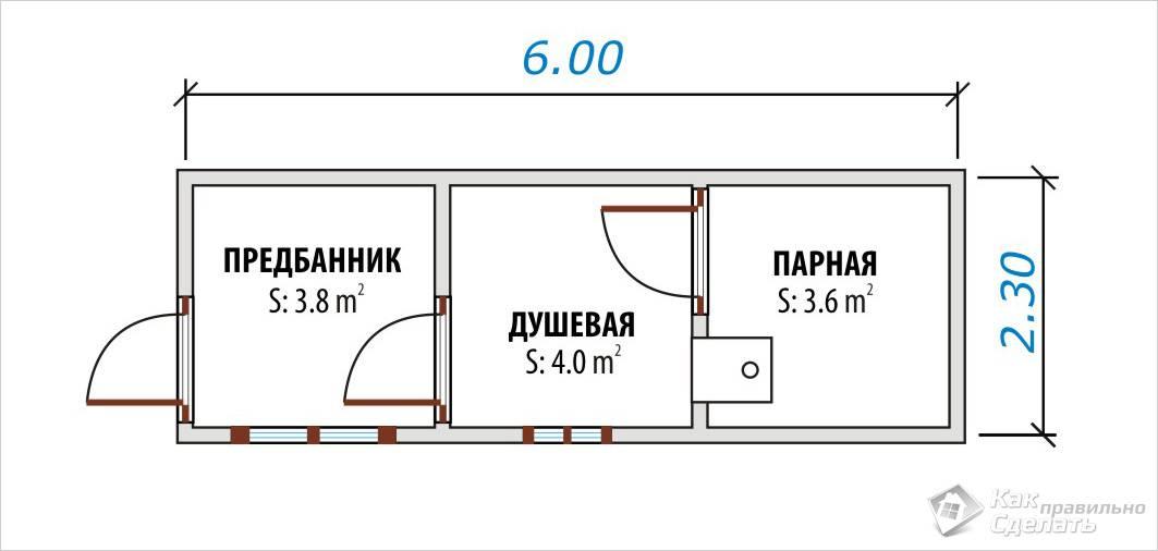 Баня 6×2,3