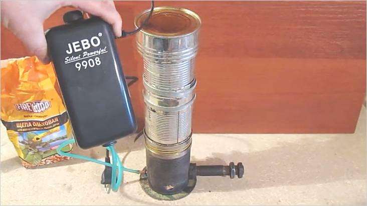 Для работы дымогенератора хватит компрессора для аквариума