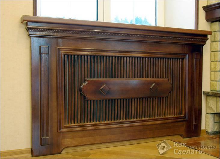 Превосходно смотрятся деревянные экраны