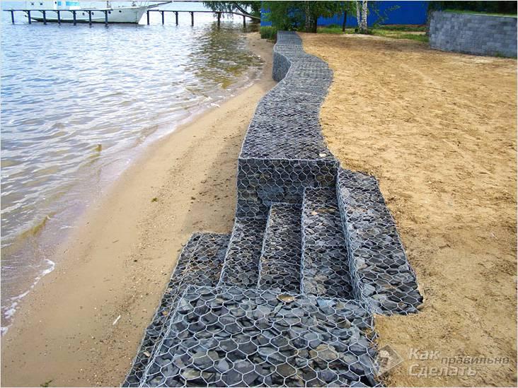 Укрепление прибрежной зоны