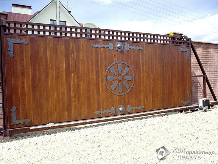 Красивое оформление ворот