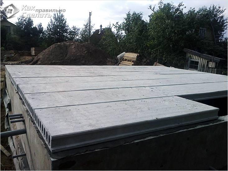 Из бетонных плит