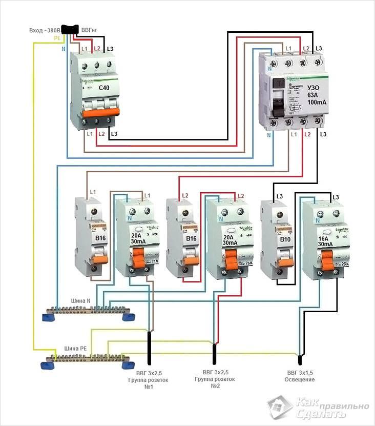 Подключение к сети 380V