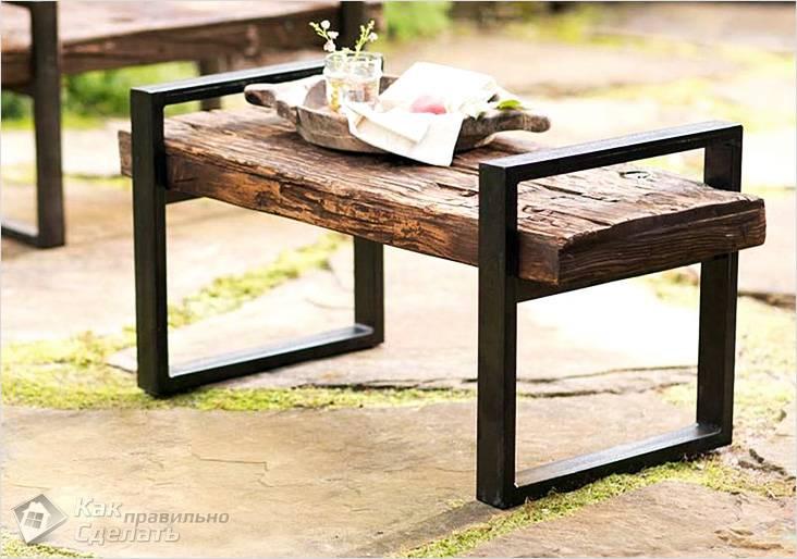 Простая комбинированная скамейка