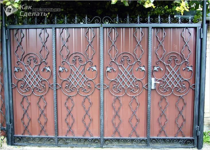 Встроенная калитка в воротах