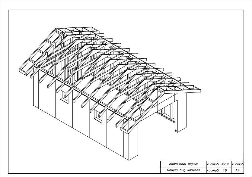 Каркасный гараж своими руками, Коломна (фото)