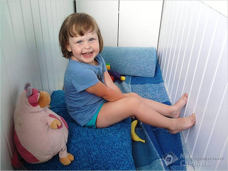 Балкон оборудован под детскую комнату