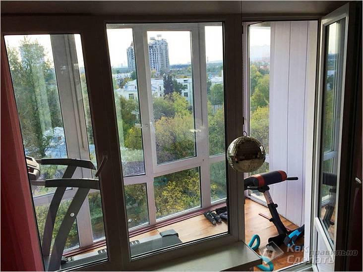 Мини-спортзал на балконе