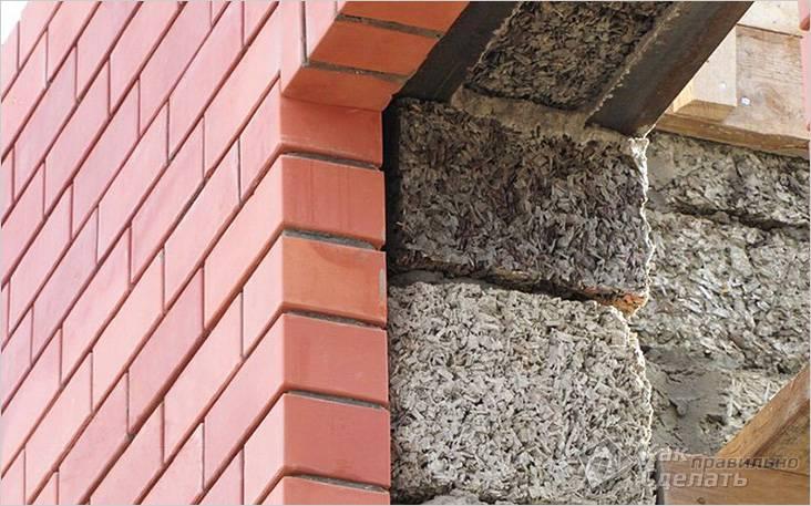 Отделка стен из арболита