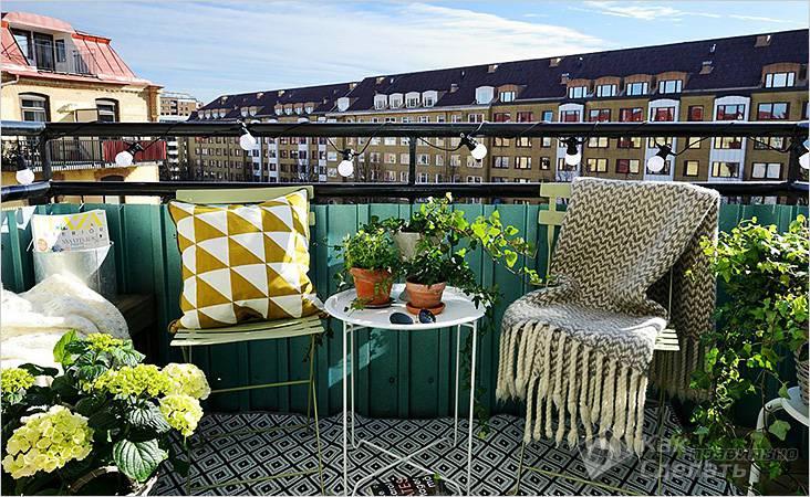 Открытый балкон с прекрасным видом