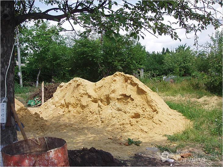 Песок для кладочного раствора