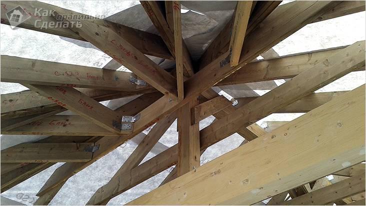 Устройство стропил шатровой крыши