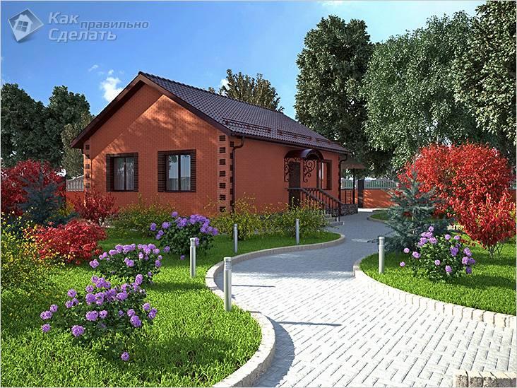 Уютный кирпичный дом на участке