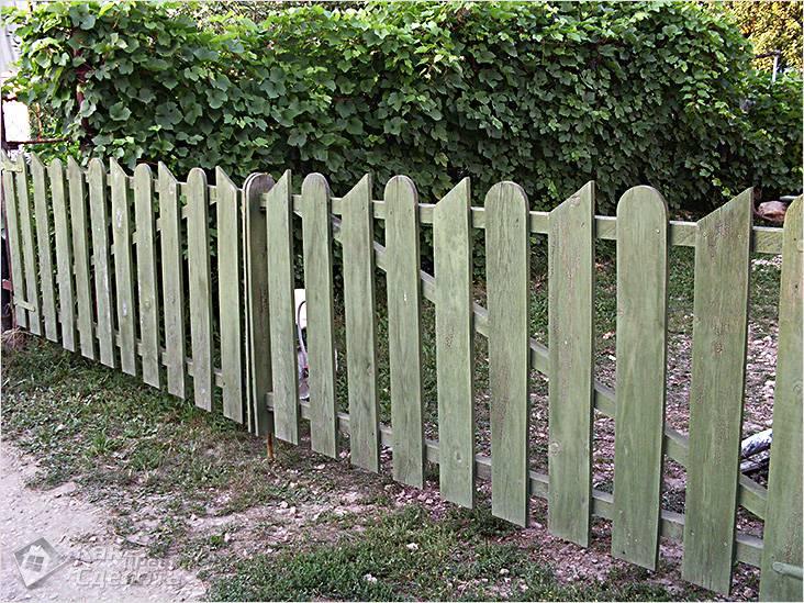 Ворота из штакетника