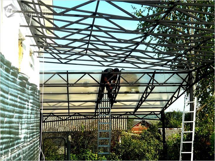 Возведение крыши