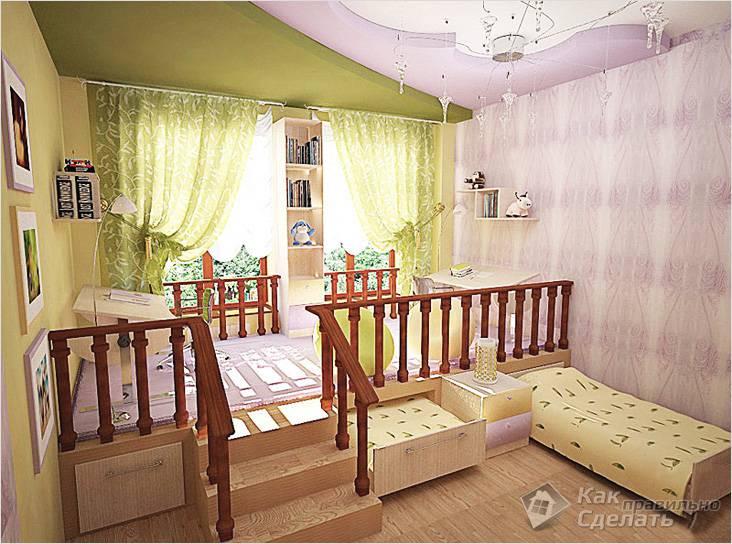 Детская с выдвижными кроватями