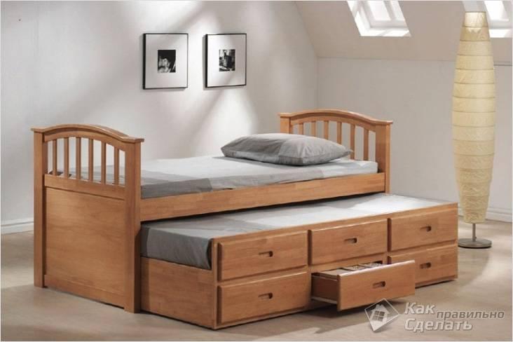 Детские кровати с выдвижными ящиками