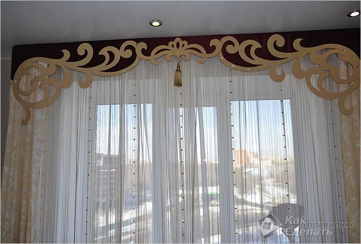 Ажурный ламбрекен в дизайне помещения