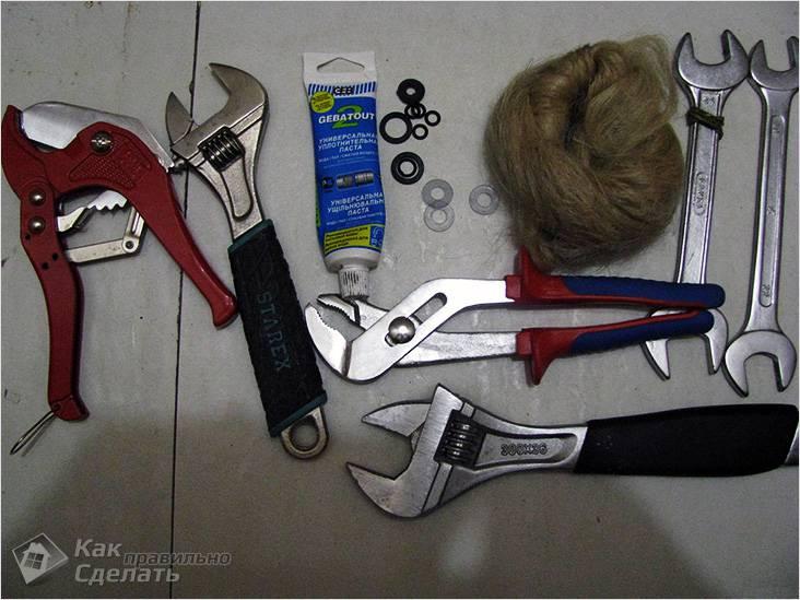 Инструменты для проведения монтажа