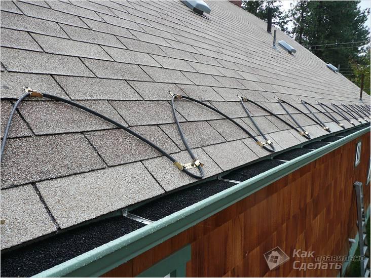 Монтируется обычно вместе с обогревом крыши
