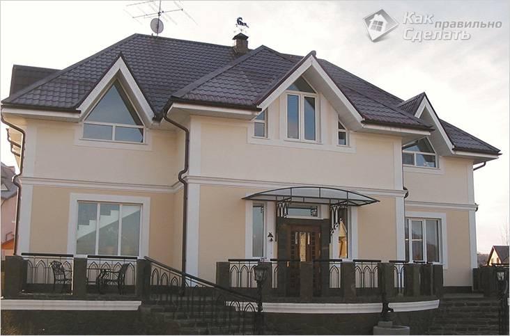 Этот дом построен из арболита