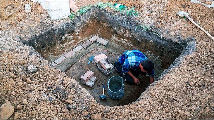Кладка погреба