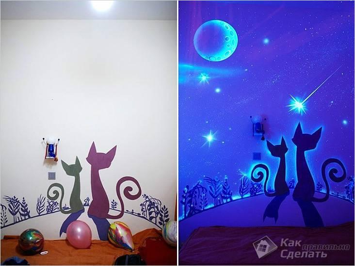 Особенности флуоресцентной краски